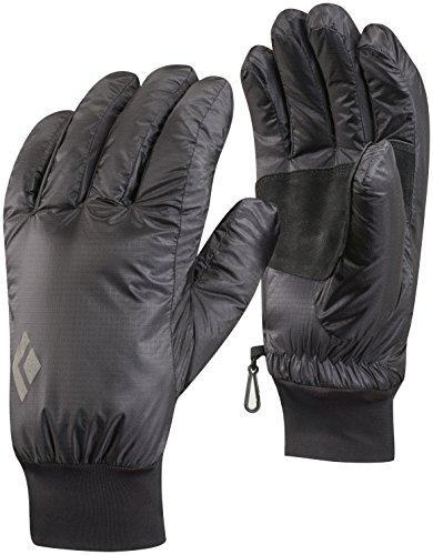 Black Diamond Stance Handschuhe zum Alpinklettern an kalten Tagen / Winddichter Fingerhandschuh mit Ziegenleder Handflächen / Black, Größe: L