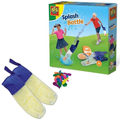 SES Creative 02281 Battaglia Splash - fionda per palloncini ad Acqua Wasserbombenschleuder, blau