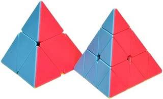 CuberSpeed Bundle 2x2 Pyramid & 3x3 Pyramid Speed Cube Puzzle Pyramorphix stickerless Pyramid Set