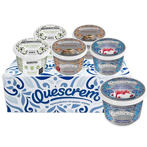 Caja Especial Repostería Quescrem: mix de 6x500g para hacer tartas y pasteles (2xQueso Crema, 2xYogur Culinario, 2xMascarpone)