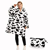 Oversized Hoodie Blanket Sweatshirt, Wearable Sherpa Blanket Pullover,Soft Warm Comfortable Portable Travel Sweater Pillow for Adults Men Women,Gift for Her,Indoor and Outdoor