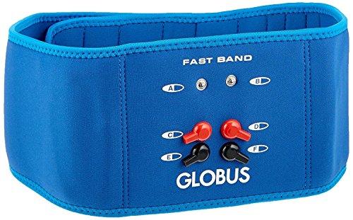 Globus G0487, Fast Band Abdominales glúteos Espalda Banda cinturón para electroestimulador Unisex Adulto Azul pequeño