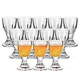 Shot Glasses, RUCKAE 0.5oz Mini Wine Shot Glasses 12 Set, Unique Long Stem Wine Glasses/Mini Goblet Liquor Glasses/Port Glasses