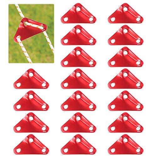 Huahao Tensores de Cuerda, 30 Piezas de Triángulo de Aluminio Cable Tensor...