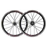 Mejora de llanta de bicicleta Rueda de ciclismo BMX Juego de ruedas de bicicleta de 16 pulgadas Llantas 559x20 Freno de llanta con piñón 11T para niños / Bicicleta plegable Ejes de liberación rápida A