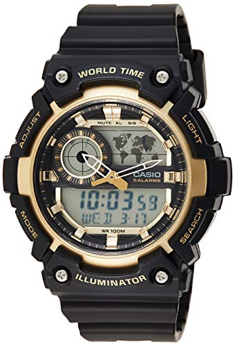 Casio Youth-Combination Analog-Digital Gold Dial Men's Watch - AEQ-200W-9AVDF (AD212)
