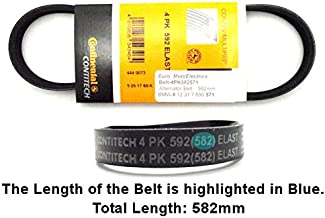 Continental Contitech Alternator Belt Compatible with BMW R Hexhead 582mm
