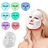 MINCHEDA LED Photon Therapy 7 Couleurs faciales Traitement de la lumière beauté Soins de la Peau rajeunissement beauté Masque Facial Soin Visage Anti-âge Masque de beauté
