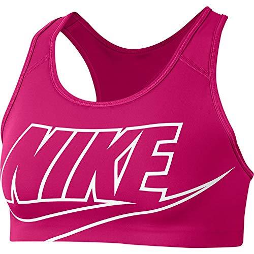 Nike BV3643-616 Swoosh Futura Bra Reggiseno Sportivo Donna Fireberry/(White) XS