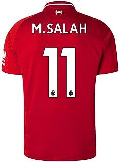 Liverpool Home Mens 11 M Salah Socce Jersey 2018-2019
