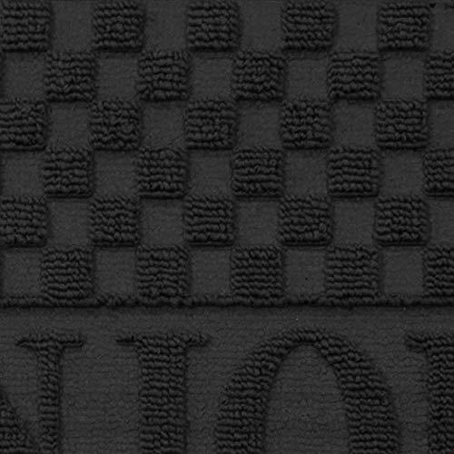 douceur d'intérieur tapis d'entree demi-lune 45x75 cm pvc bonjour noir