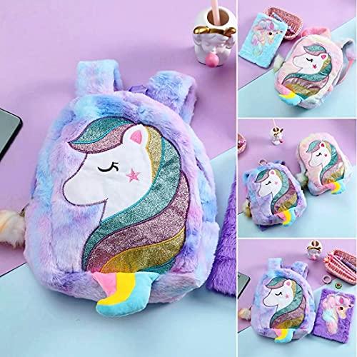 FunBlast Unicorn Soft Bag for Kids - School & Picnic Bag / Lightweight Travel School Mini Backpack for Girls & Kids (Random Color)