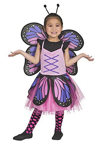 Disfraz de Belle de Mariposa para niña - Rosa - Disfraz de fantasía Animal para niños (5-8 Anos)