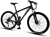 Xiaoyue Mountain Bikes, 27,5 Zoll Big Wheels Hardtail Mountainbike, Overdrive Alurahmen Mountain Trail Bike, Mens-Frauen-Fahrrad, Silber, 27 Geschwindigkeit lalay (Color : Gold, Size : 27 Speed)