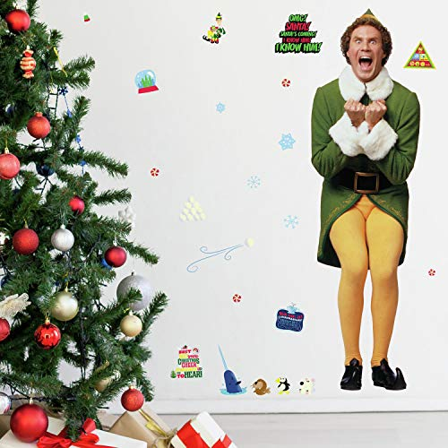 RoomMates Buddy The Elf Giant Wall Decals   Holiday Wall Stickers