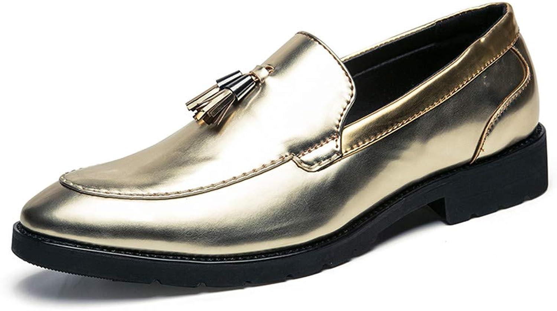 Easy Go Shopping Herren Quaste Oxford Schuhe Mokassins Slip-on Klassische Penny Loafer Schuhe,Grille Schuhe