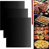 RichMoho - Revestimiento universal de teflón para horno (revestimiento antiadherente, 3 unidades) + protector universal para estante de cocina, 1 paquete
