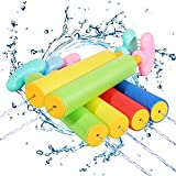 Auney Pistolas de Agua para Niños, 6 PCS Pistola de Agua de Espuma Juguete Infantil para Piscina Playa