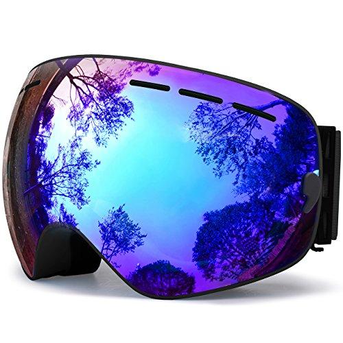 Ski Goggles, Snowboard Goggles UV Protection, Snow Goggles Helmet Compatible for Men Women Boys...