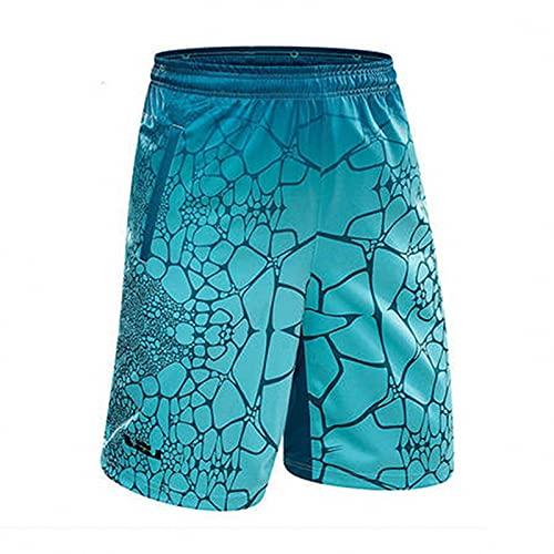AGLT Pantalones cortos de baloncesto con bolsillos para hombre de baloncesto de malla de talla grande para correr, pantalones cortos de entrenamiento de secado rápido para hombre, C4., L