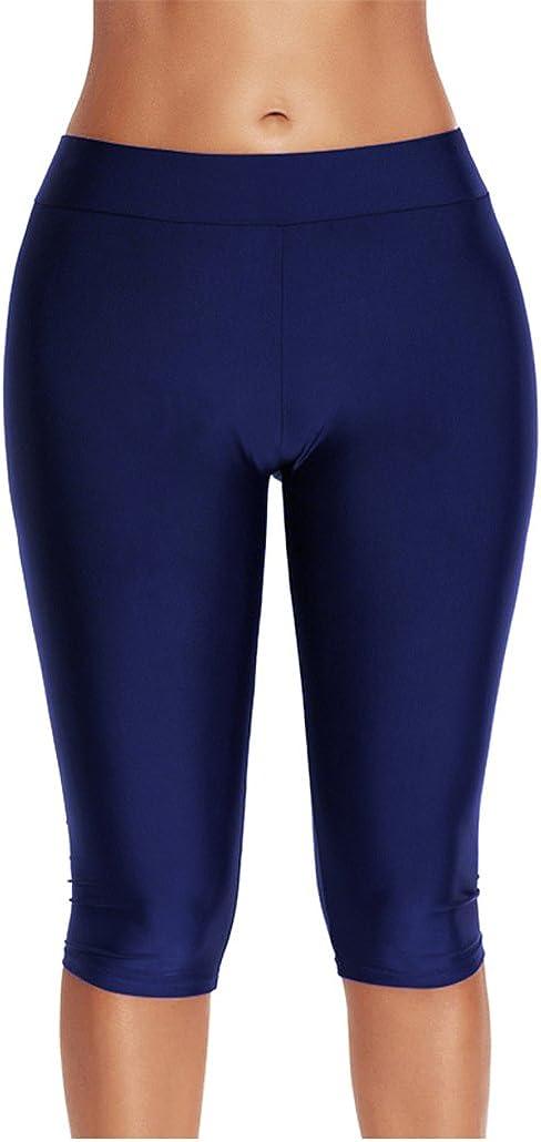 Tomlyws Women's Swim Capris Board Shorts Rash Guard Swimsuit Pants Swimwear M-4XL