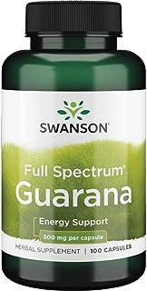 Swanson Guarana 500 Milligrams 100 Capsules