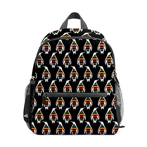 Mochila estudiantil para niños y niñas, diseño de pingüino, colores vintage, estilo casual, bolsa de viaje para la escuela, regalo