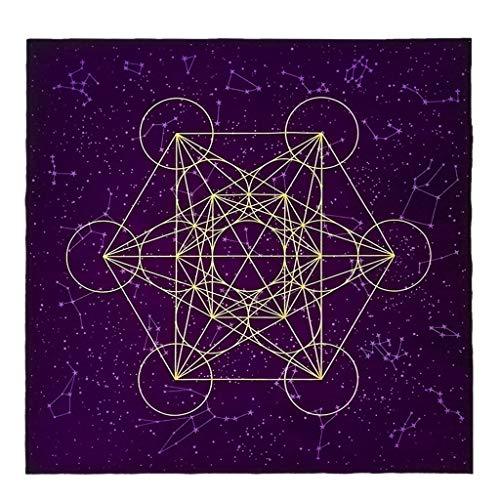 Dalin Tarot-Karten-Tischdecke Metatrone Cub Kristall Gitter Altar Samt Tuch Brettspiel