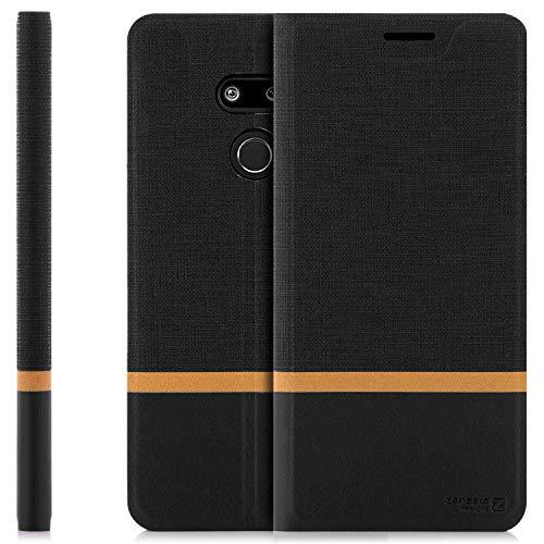 zanasta Tasche kompatibel mit LG G8 ThinQ Hülle Flip Hülle Schutzhülle Handytasche mit Kartenfach   Schwarz