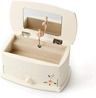Ffshop Caja de música Joyería Caja de música Pintado a Mano de la Caja esférica Caja de música de Ballet de Madera Muchacha niños de la Caja de Regalo de Almacenamiento Caja de Musica para Madera