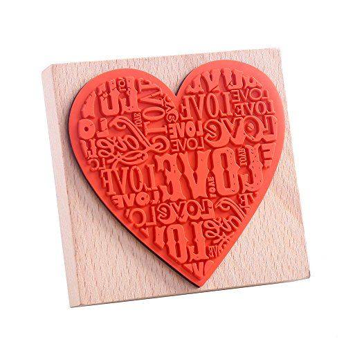 Decora Large Love Wooden Rubber Stamp-01