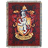 "Harry Potter Gryffindor Shield Woven Tapestry Throw Blanket, 48"" x 60"""