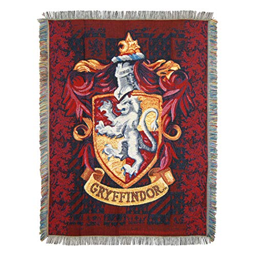 Harry Potter House Ravenclaw Reisekissen mit Applikation Tapisserie-Überwurf 4' x 5' Gryffindor Shield