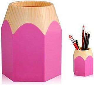 Portapenne moderno in similpelle da scrivania 8.3*10cm Nero Cosanter