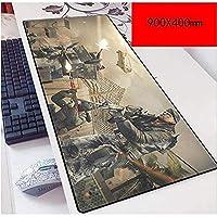 マウスパッド戦争を横切る900X400mmマウスパッド、拡張XXL大型プロフェッショナルゲーミングマウスマット、ノートブック、PC D