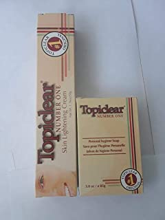 Topiclear Number One Skin Lightening Cream 1.76 oz / & Soap 3.0 oz