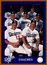 1993 LOS ANGELES DODGERS Police #30 Coaches Card Tommy Lasorda Joe Amalfitano Ron Perranoski Ben Hines Manny Mota Mark Cresse Joe Ferguson Ron Roenicke