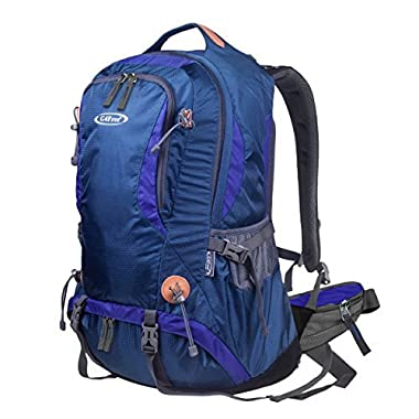 G4Free 50L Outdoor Backpack Camping Climbing Hiking Backpack For Backpacker Unisex Bag with Rain Cover(Blue)