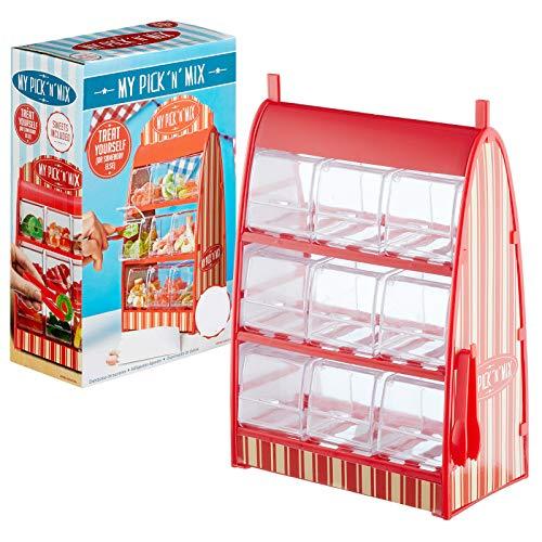 Preis am Stiel Süßigkeitenspender mit 9 Schubladen und Einer Zange | Süßigkeitenautomat | Süßigkeitenbehälter | Geschenkidee | Süßigkeitenspender für Kinder | Automaten