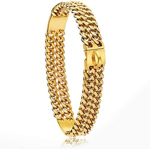 18K Gold Plated Charm 24mm Wide Heavy Duty Strong...