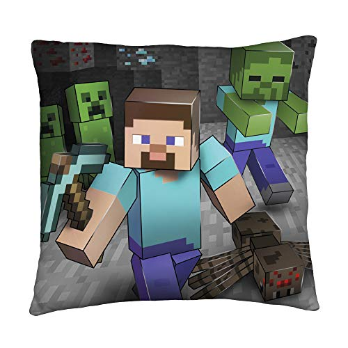 Minecraft Two Sided Creeps Square Cushion Pillow – Perfect For Any Children's Room Or Bedroom