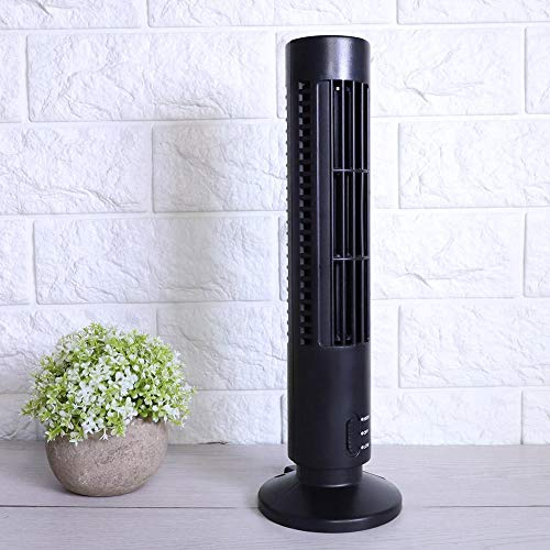 Parluna Ventilador de Escritorio, Mini Ventilador eléctrico, Estudio de Biblioteca de Ahorro de energía ecológico para el hogar de la Oficina(Black)