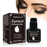 Eyelash Glue,Glue Eyelashes,Eyelash Extension Glue,Extensions de cils glue,colle d'extension de cils Imperméable et à séchage rapide, excellente durabilité