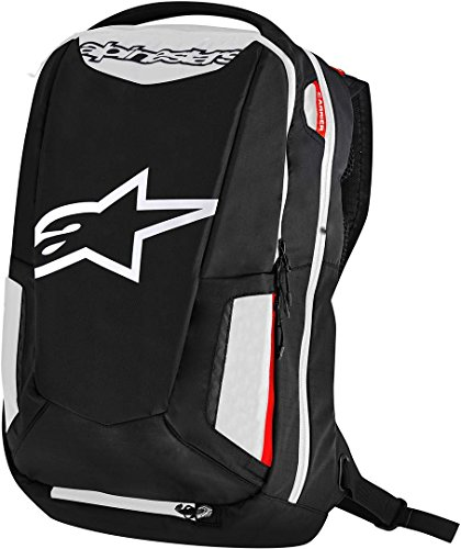 Alpinestars item_name Motorrad-Rucksack City Hunter Backpack, BLACK WHITE RED