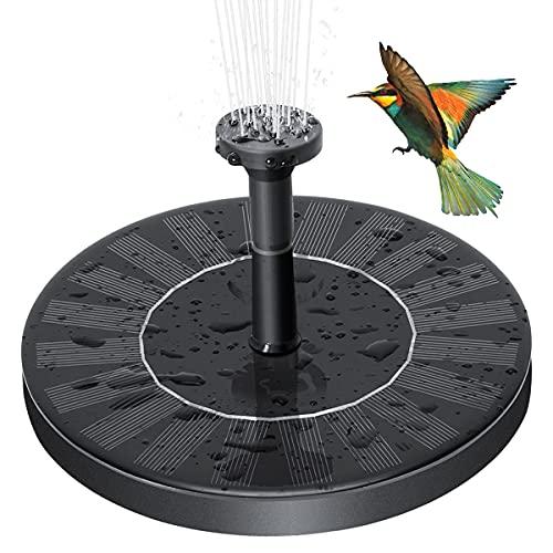 Solar Fountain Pump,3W Bird Bath Fountain,Solar Powered Water Fountain Pump,Suitable for Bird Bath Garden Pond Fish Tank Aquarium