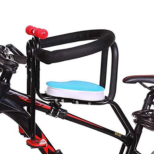 Sillas De Bicicletas Para Niños Bicicleta De Montaña/Vehículo Eléctrico Asiento De Seguridad Extraíble Para Bebés Con Delantera Reposabrazos Y Cojín Grueso Para Niños 2 A 7 Años ( Color : Blue )