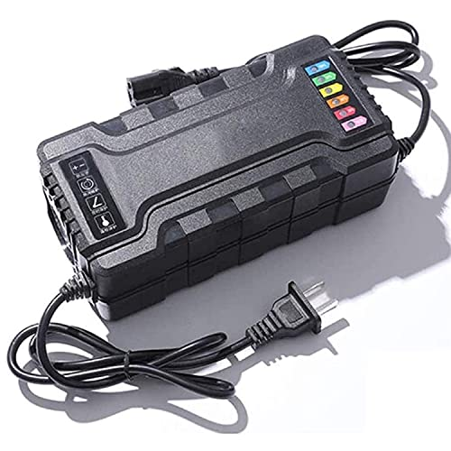 KOIJWWF Cargador de Scooter eléctrico, Adaptador de batería de Plomo-ácido para Motocicleta eléctrica 72V 20AH, protección de Control de Temperatura, conexión Anti-reversa