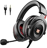 EKSA Gaming Headset PS4/XBox One, Virtual 7.1 & 3,5mm Surround Sound 2 in1 Kabelgebundenes Over-Ear...