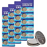 CR2032 3V Lithium Button Cell Coin Battery - Long Lasting Working Span Round...
