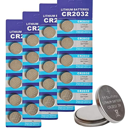 CR2032 3V Lithium Button Cell Coin Battery - Long Lasting Working Span Round Battery Specially Made for Remotes|Calculator|Led lights|etc. - 20 Count
